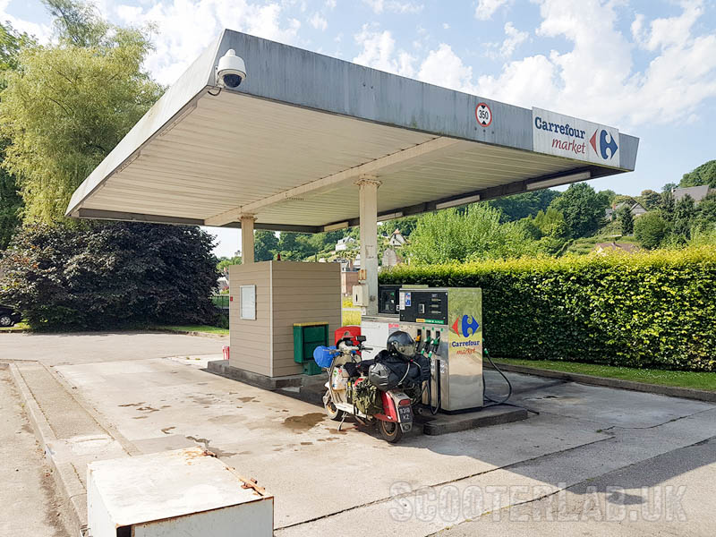 Depressing refuelling stations in France.