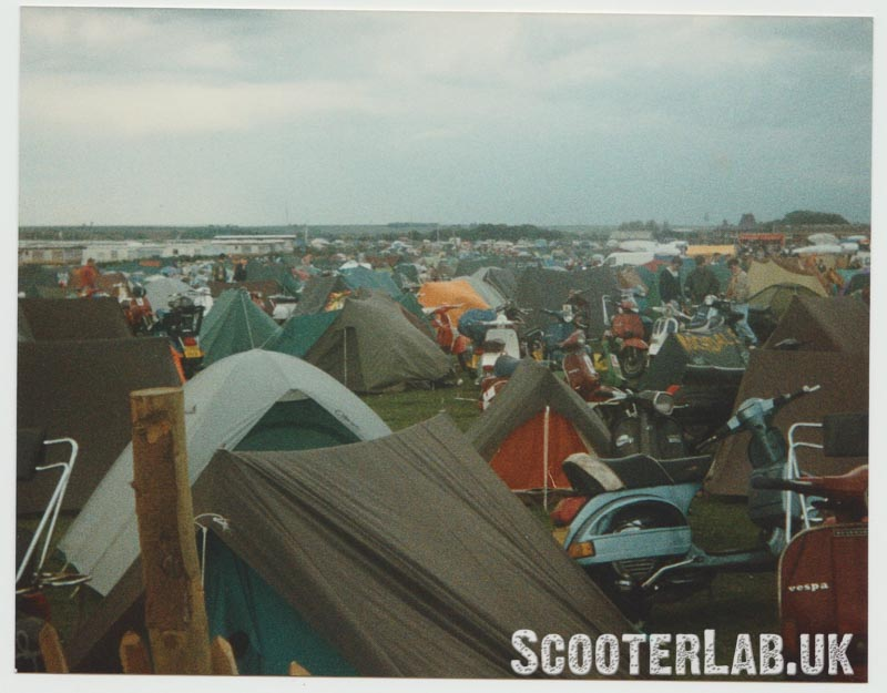 1991, the old South Shore campsite at the far end of town. Ridge tents galore.